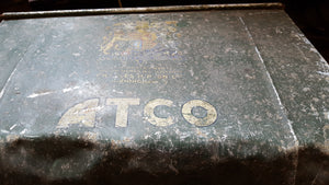 "Large 19"" Vintage Atco Push Mower Grass Box 39271"
