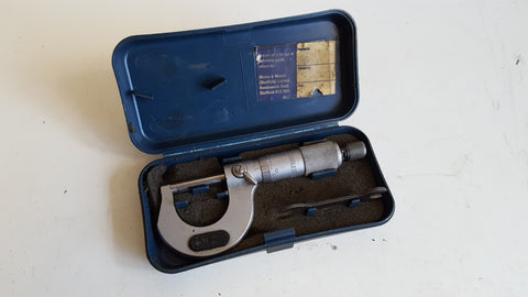 Vintage Moore & Wright No 961 Micrometer in Box 39192