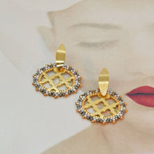 Load image into Gallery viewer, MOSAIC - 18Kt. Gold-Plated Earrings