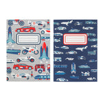 Things That Go Fast 2 Pack Kids Novelty Note Pads A5
