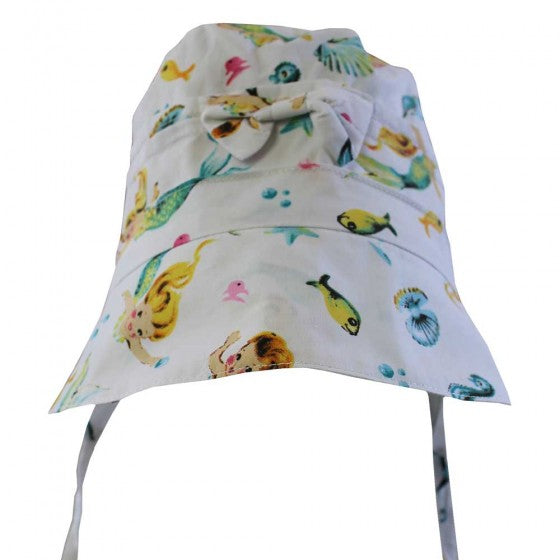 POWELL CRAFT Mermaid Print Bonnet