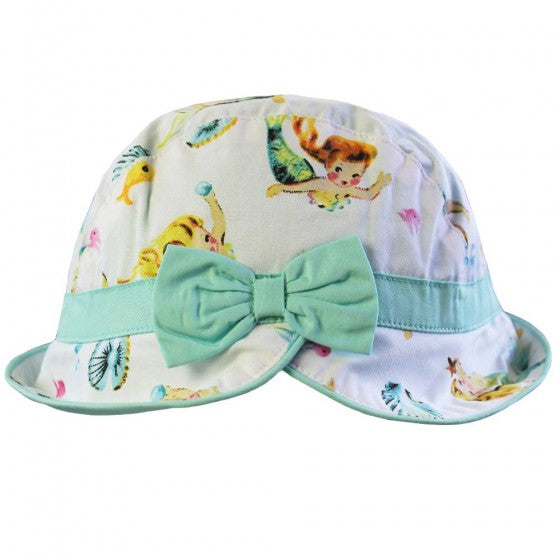 POWELL CRAFT Mermaid Print Sun Hat 1-3 YRS