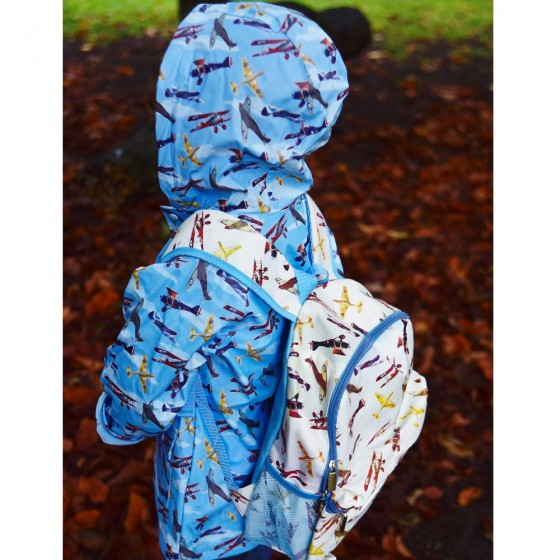 Vintage Planes Print Boys Rain Coat 1-7 Years