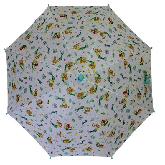 Powell Craft Mermaid Print Umbrella