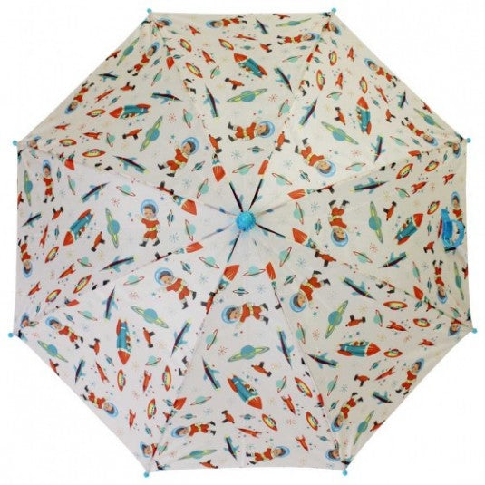 Retro Astro Space Boy Umbrella
