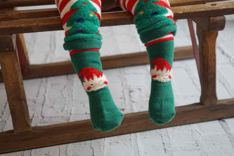 Elf Fluffy Christmas Socks 0-4 YRS
