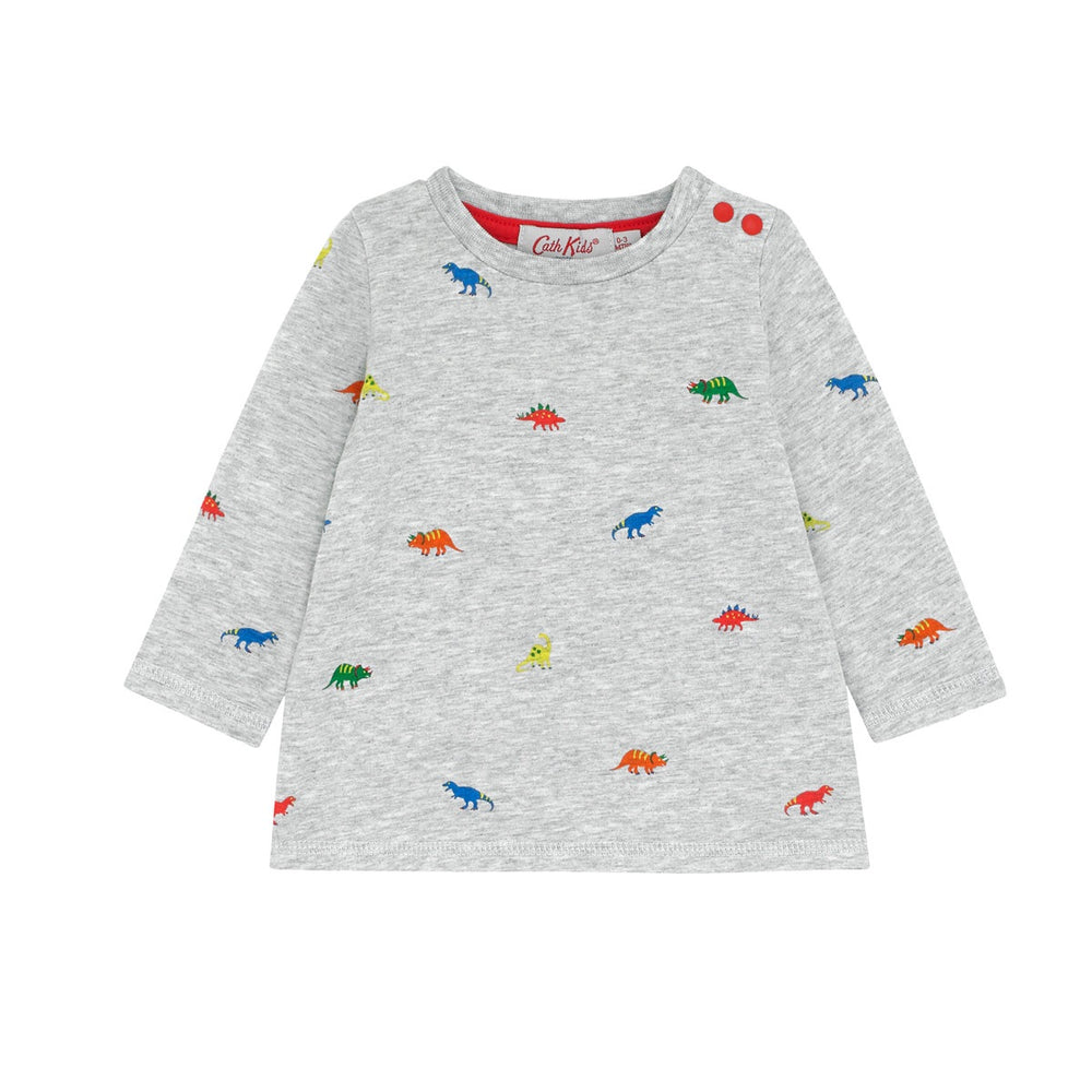 Baby LS Tiny Dino Stamp Tshirt 0-24 MNTHS