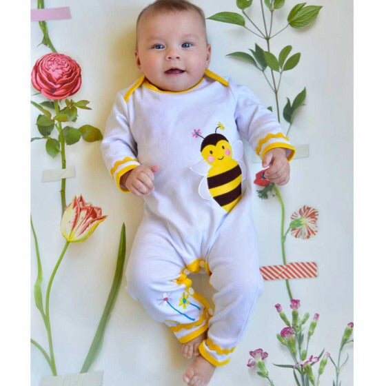 Bumble Bee Jumpsuit 0-6 months