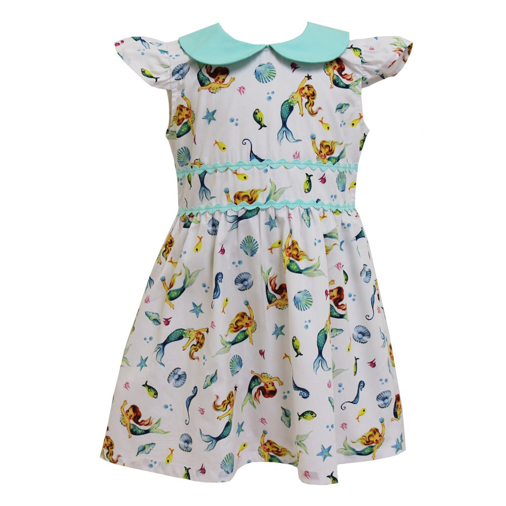 POWELL CRAFT Mermaid Print Dress