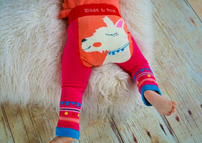 Fluffy Llama Leggings 0-4 YRS