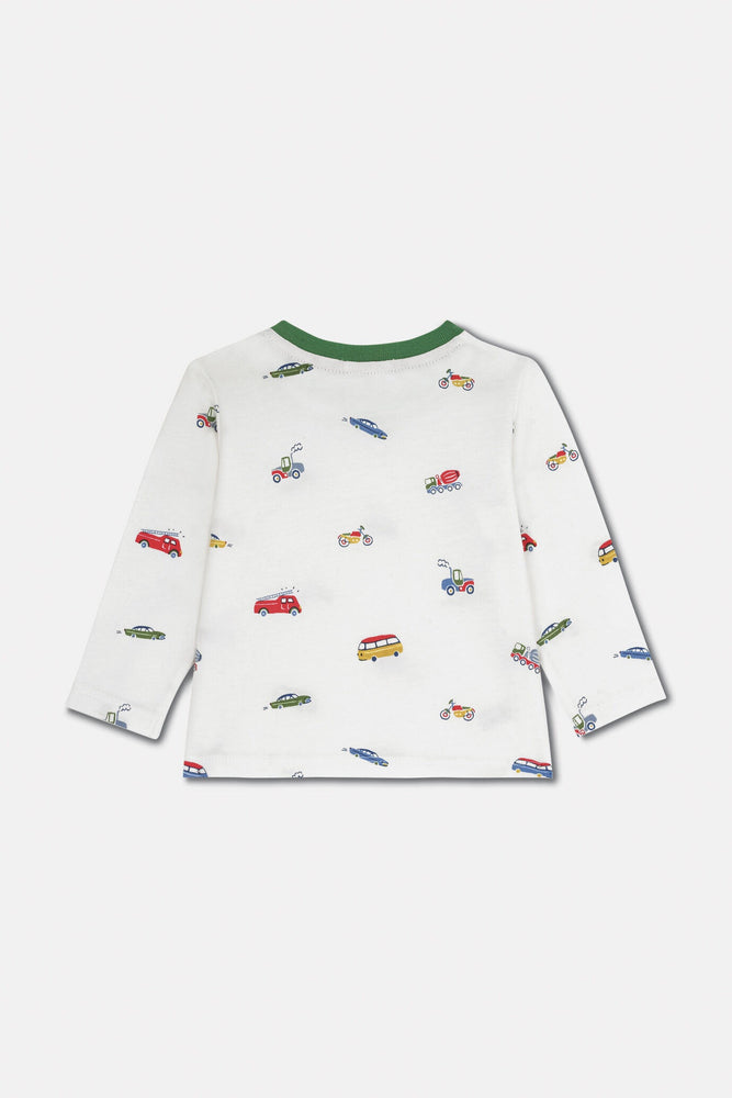 Baby Long Sleeve T-Shirt Garage Station 0-3 & 3-6 MNTHS Left Only