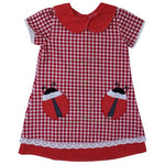 Red Gingham Ladybird Dress 1-7 YRS