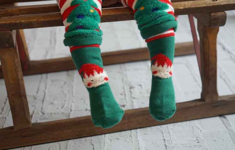 Elf Fluffy Christmas Leggings 0-4 YRS