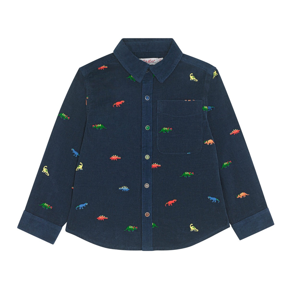 Dino Stamp Embroidered Long Sleeve Shirt 1-6 YRS