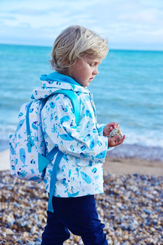 NEW Deep Sea Print Rain Coat 1-7 YRS