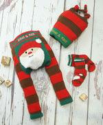 Santa Fluffy Christmas Socks 0-4 YRS