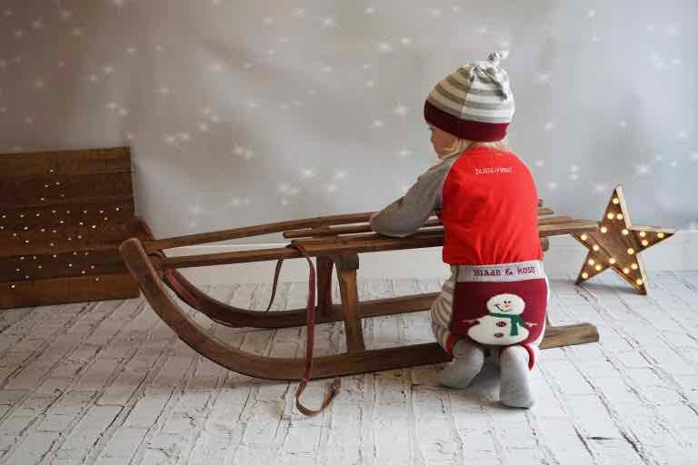 Snowman Fluffy Christmas Leggings 0-4 YRS