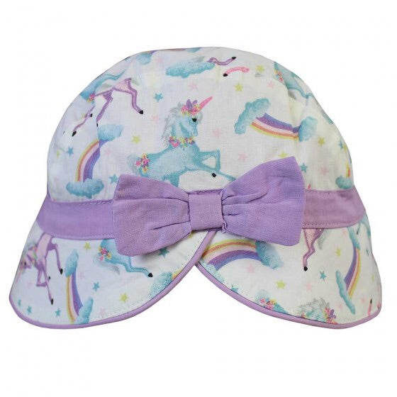 Unicorn Print Cotton Sun Hat 1-3 YRS