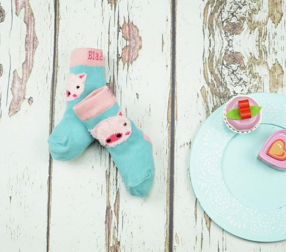 Fluffy Pig Socks 0-4 YRS