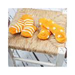 Orange Stripe/Star Socks 2 Pack