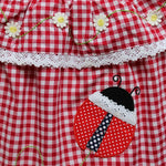 Red Checked Ladybird Romper