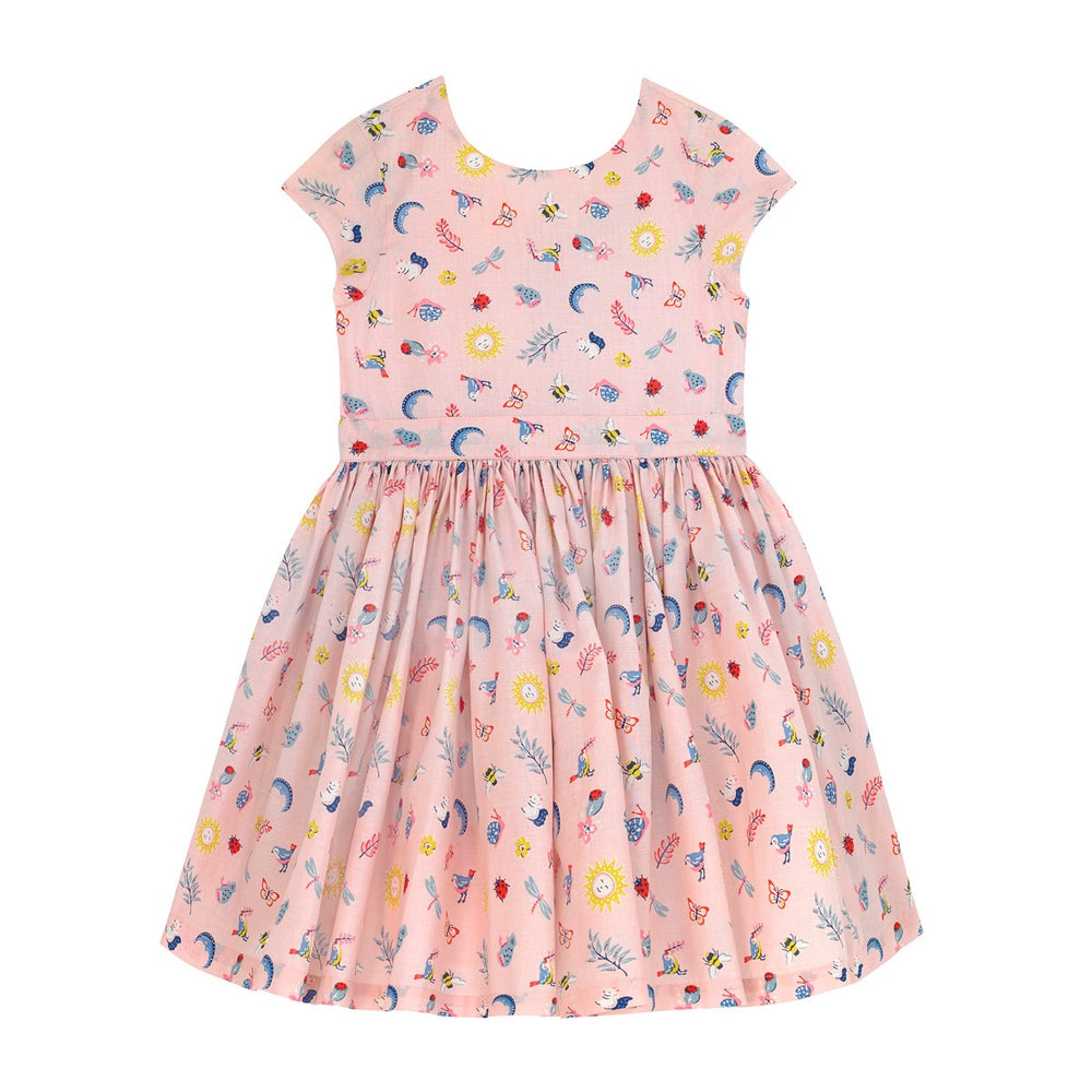 Magical Ditsy Charlotte V back Dress 2-9 YRS