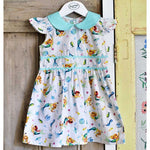 Mermaid Print Dress 1-7 YRS