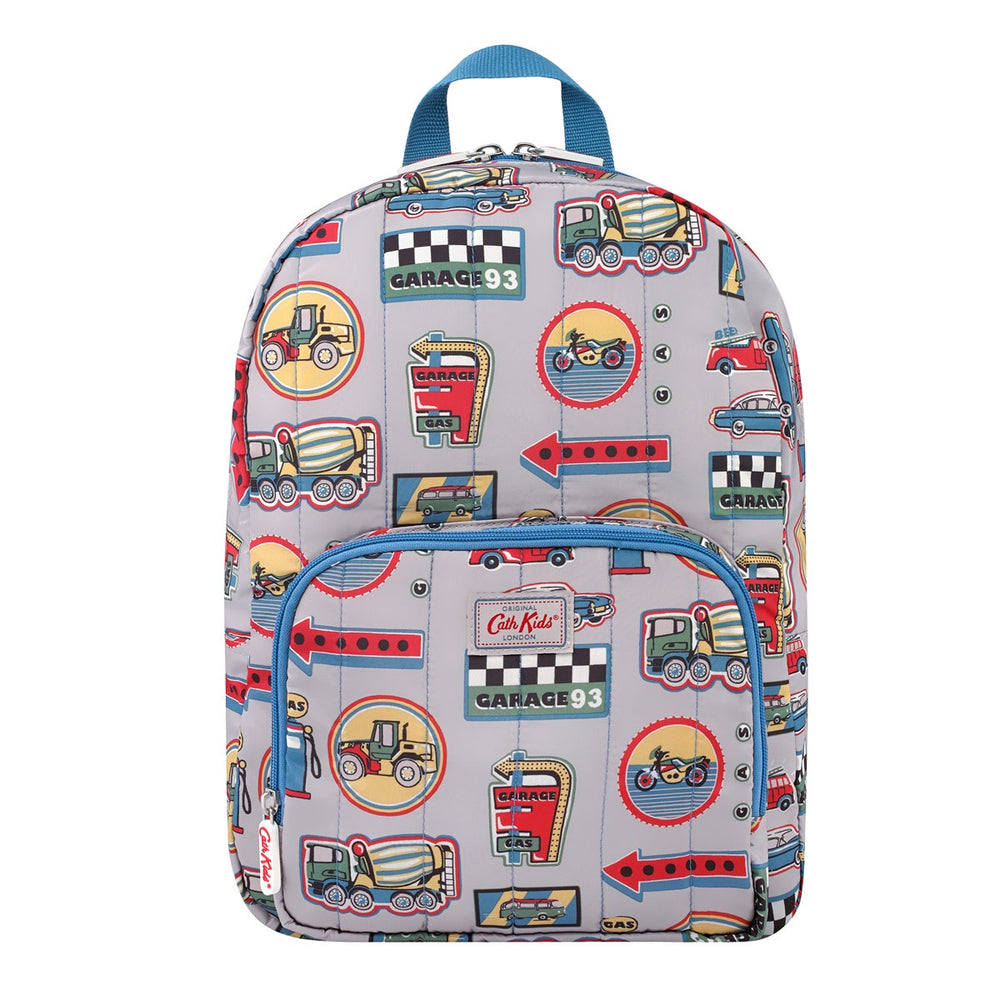 NEW Garage Stations Badges Quilted Backpack Large