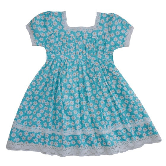 Daisy Print Dress 1-7 YRS