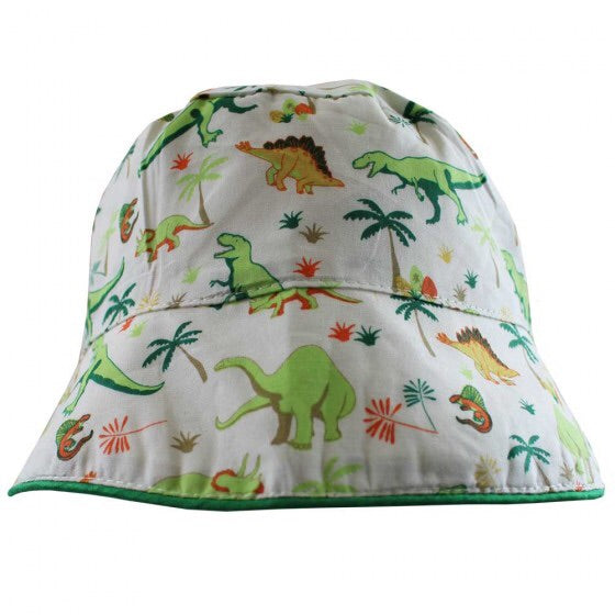 Dinosaur Print Cotton Sun Hat One Size Fits 1-3 YRS