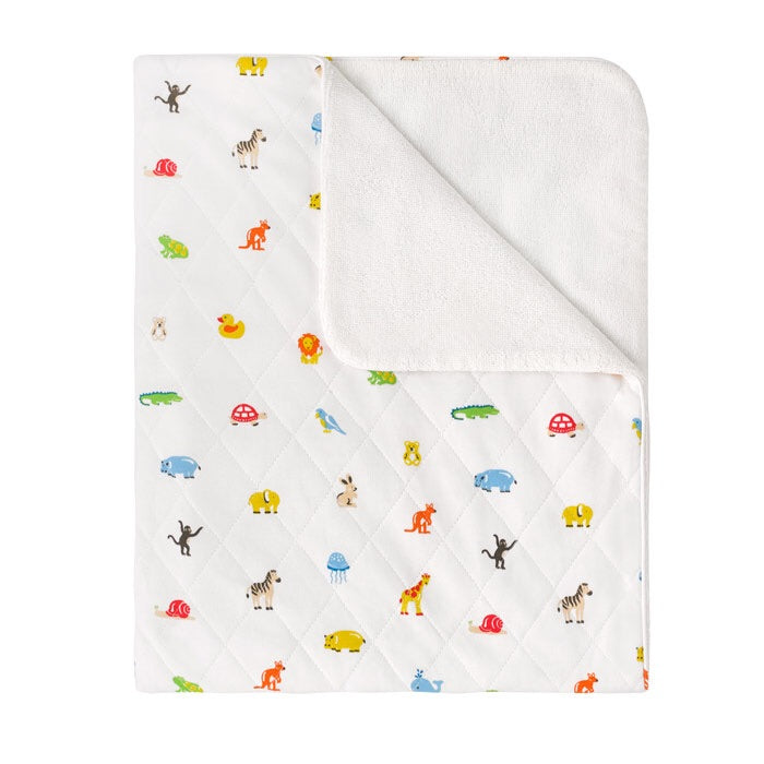 Large Nursery Animals Quilted Baby Blanket