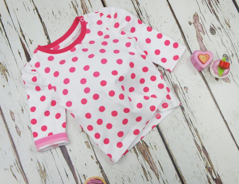 Pink Spotted Top 0-4 YRS