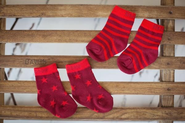 Christmas Pudding Matching Pack of 2 Socks