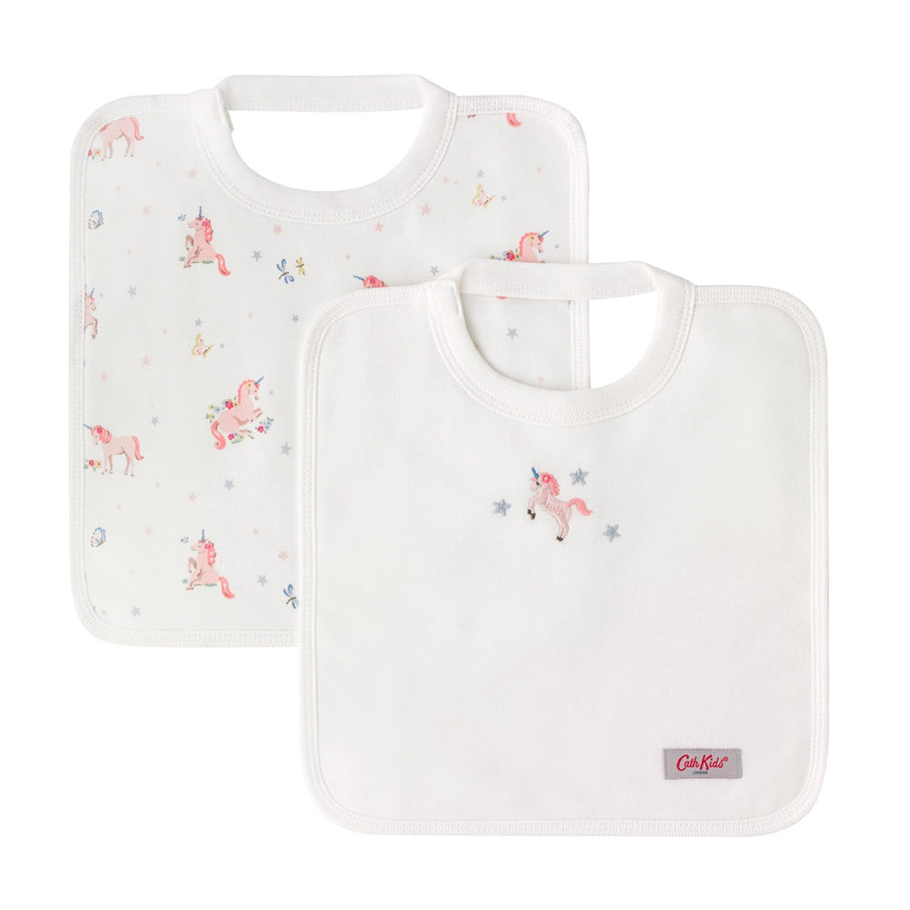 NEW Spaced Unicorn Meadow Bibs 2 pack