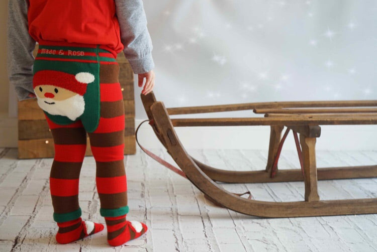 Santa Fluffy Christmas Leggings 0-4 YRS