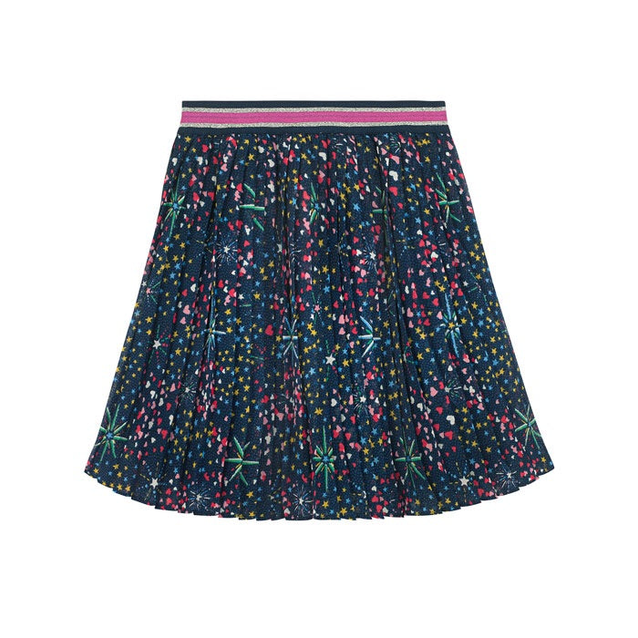 Midnight Stars Pleated Skirt