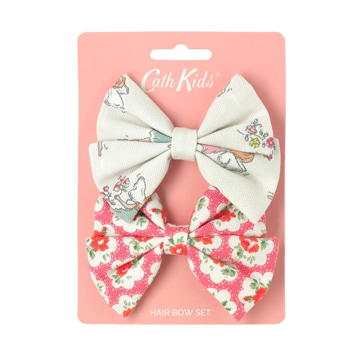 Garden Fairies /Provence Rose 2 pk Hair Bows