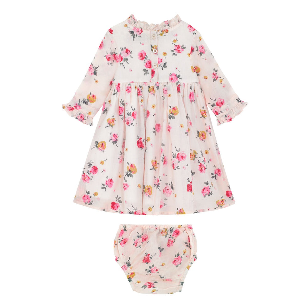 Wimborne Rose Baby Frill Pintuck Dress 0-24 MNTHS