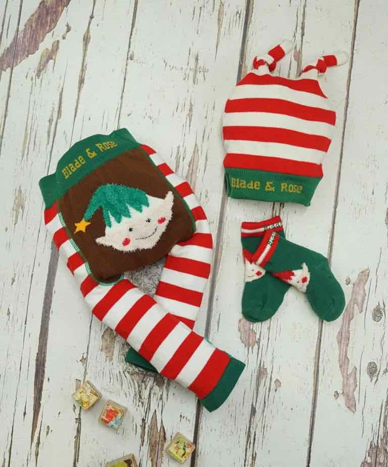 Elf Bright Stripe Christmas Hat 0-12 Months