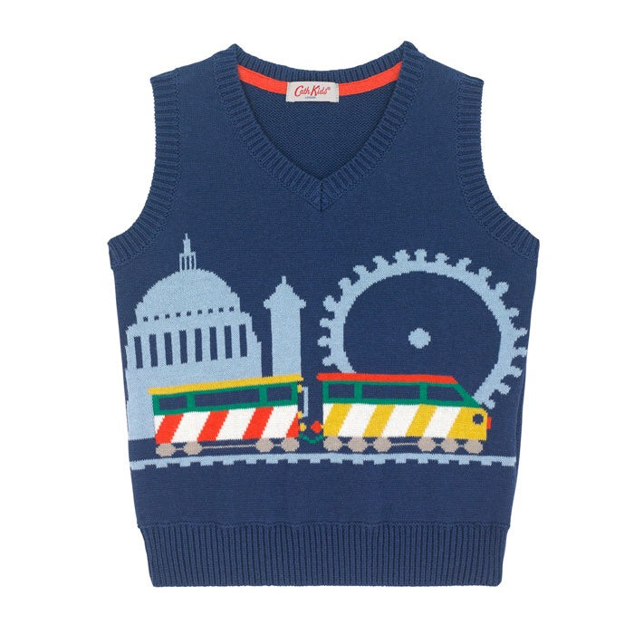Knitted Train Tank 1-6 YRS