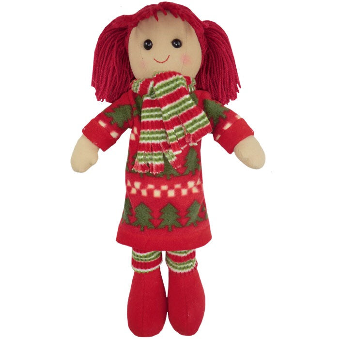 Christmas Girl 40cm Rag Doll