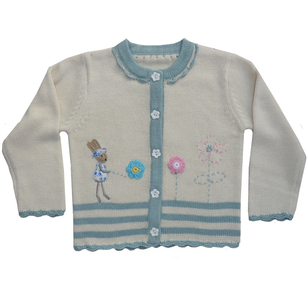 Knitted Rabbit Cardigan 0-5 YRS