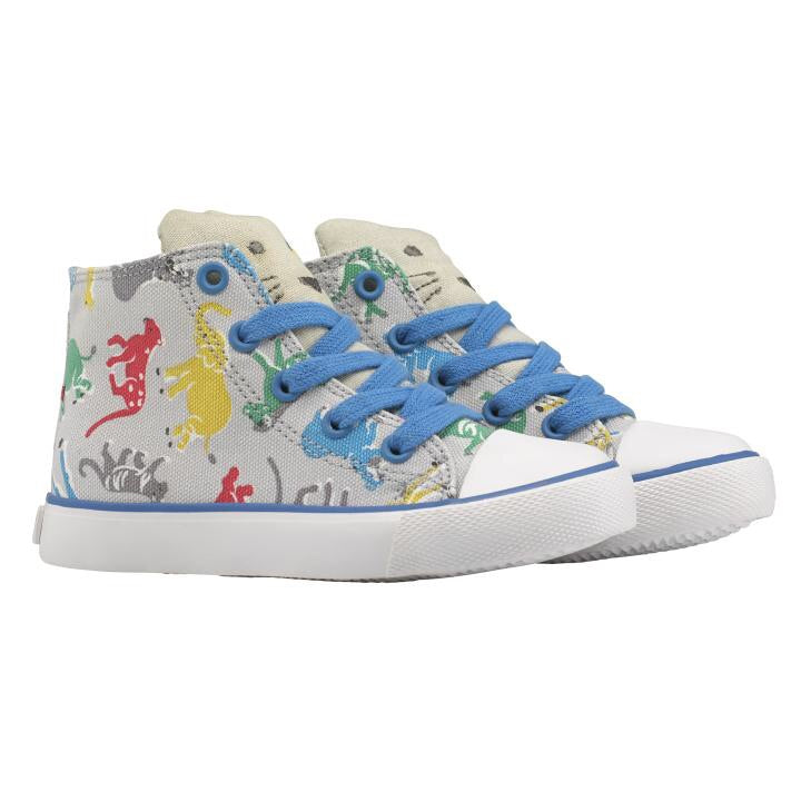 Safari Print High Top Trainers UK 13 Left Only