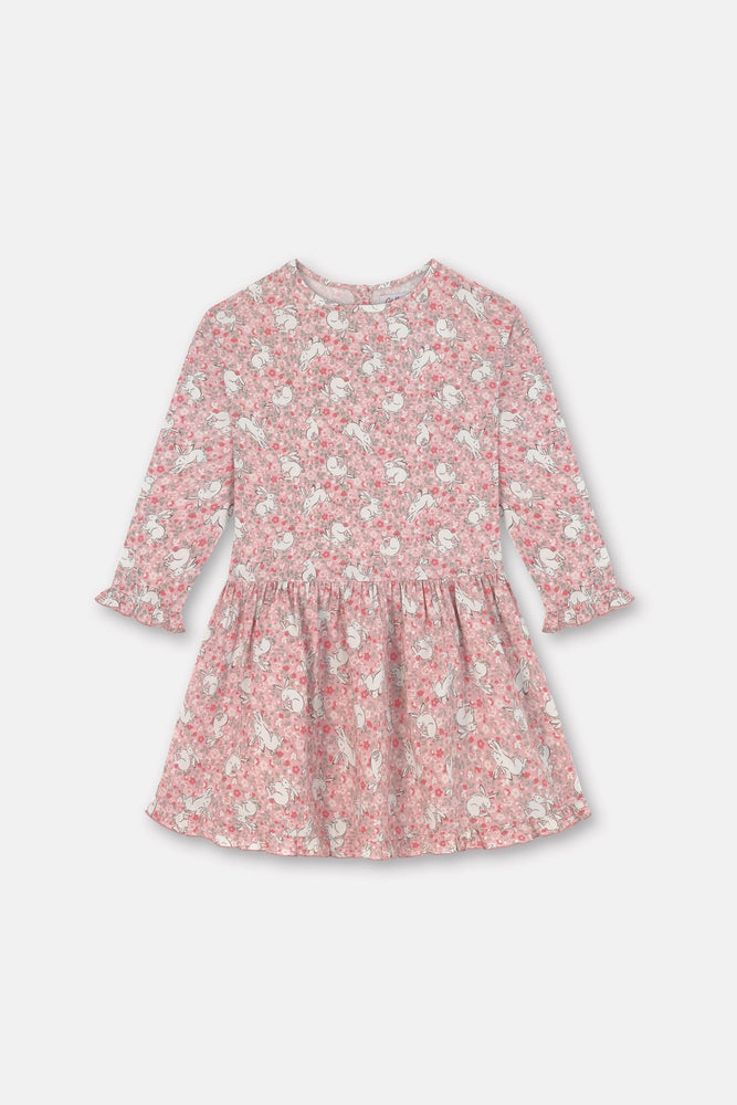 NEW Long Sleeve Dress Jumping Bunnies Last One 1-2 Years