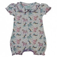 Unicorn Cotton Romper 6-12 MNTHS Left Only