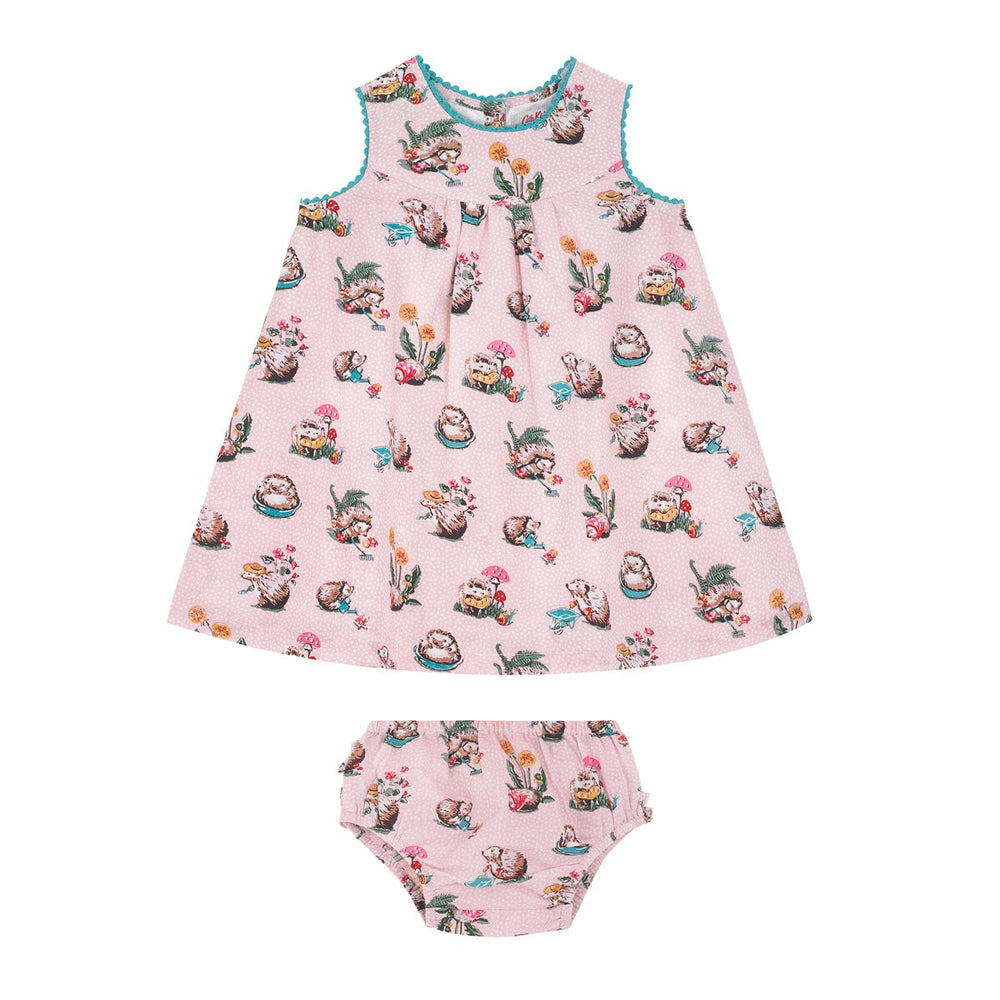 Hedgehog Print Dress and Pants Set 0-24 MNTHS