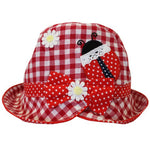 Red Gingham Ladybird Sun Hat 1-3 YRS