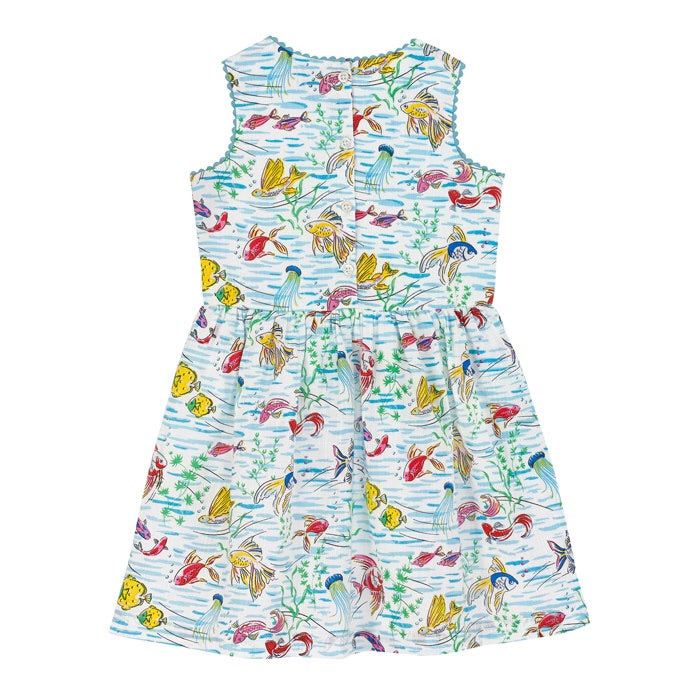 Ocean Fish Girls Dress 3-4 YRS