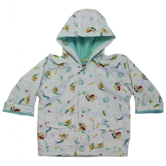 Powell Craft Mermaid Print Rain Mac