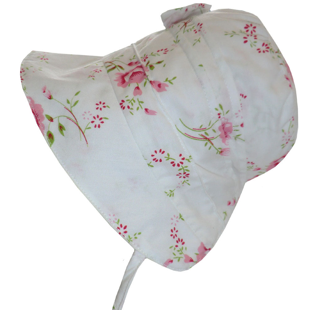 NEW Floral Rose Bonnet 0-12 MNTHS